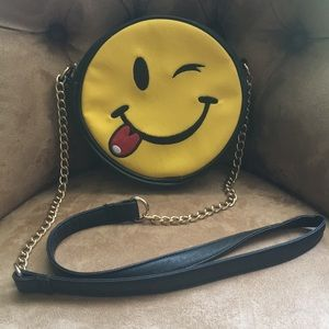 """Emoji """"wink"""" purse. Good condition, used once."""